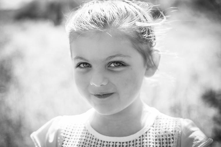 rochester photographer captures little girl smiling