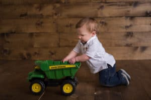 rochester ny child photographer captures little boy with truck