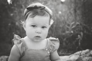 child photographer in rochester ny captures toddler in black and white