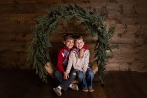 family photographer in rochester ny captures christmas photos for holiday mini sessions