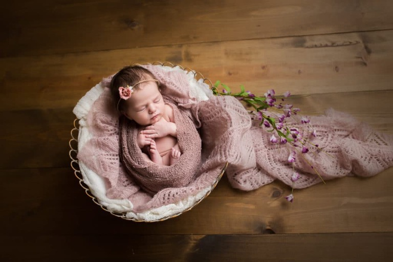 newborn photographer in rochester ny captures baby's milestones as she grows her first year